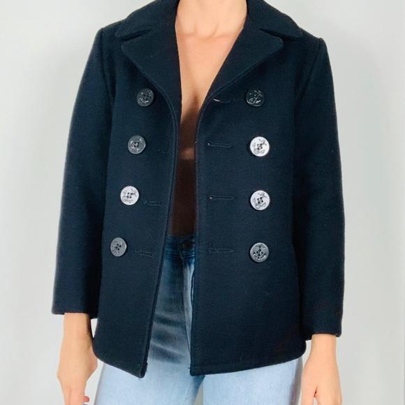 Vintage Jackets & Blazers - Vintage Schott NYC U.S. 740N Pea Coat Jacket S